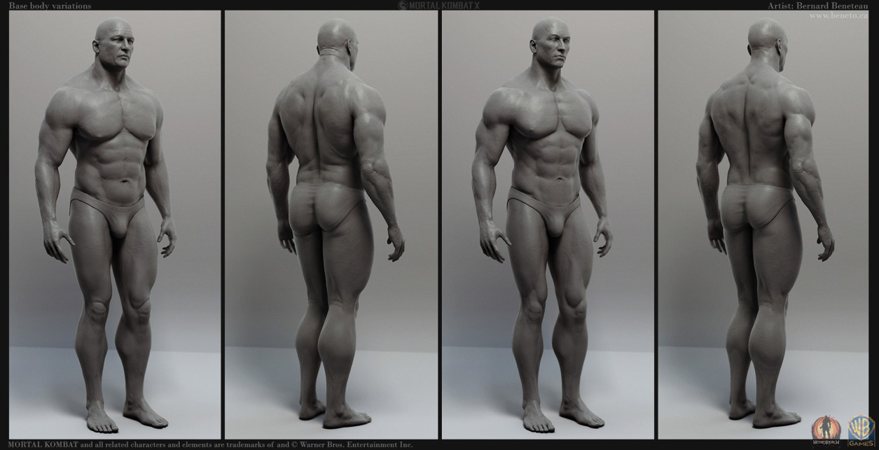 Mortal Kombat X- Base Bodies